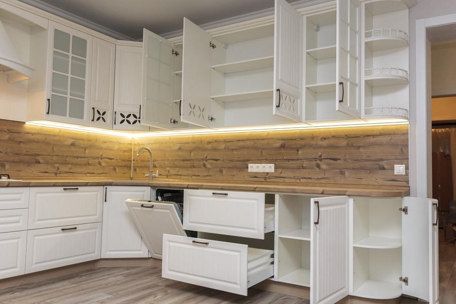 Белый кухонный гарнитур-Кухня МДФ в ПВХ «Модель 10»-фото8