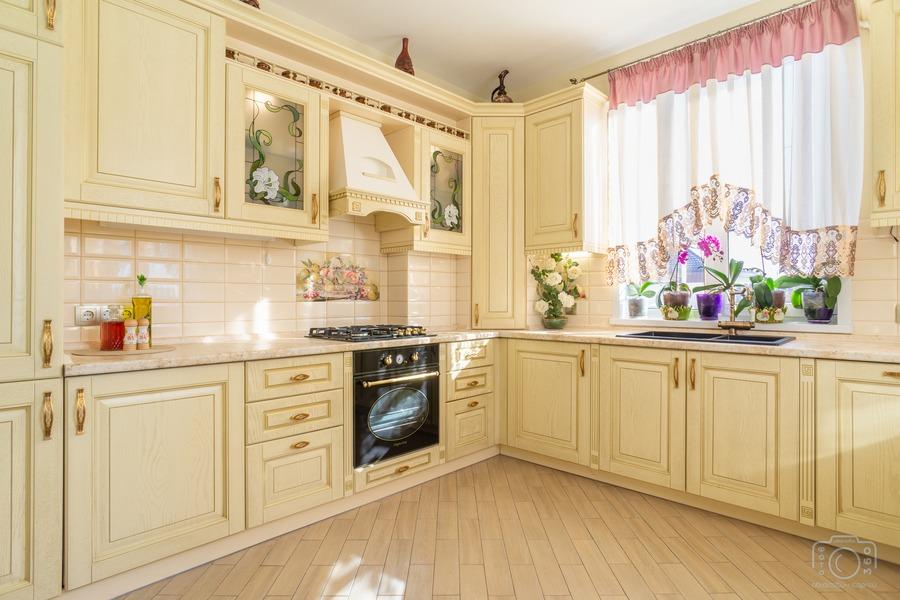 Бежевые кухни-Кухня из шпона «Модель 3»-фото3