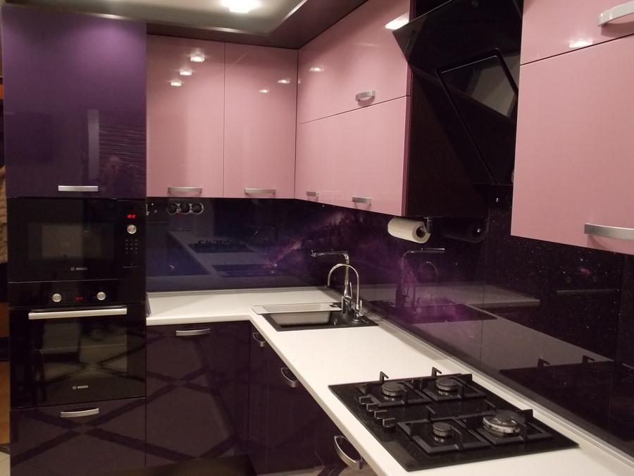 Глянцевые кухни-Кухня из шпона «Модель 16»-фото2