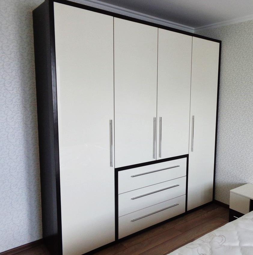 Белые шкафы-купе-Распашной шкаф МДФ «Модель 234»-фото2