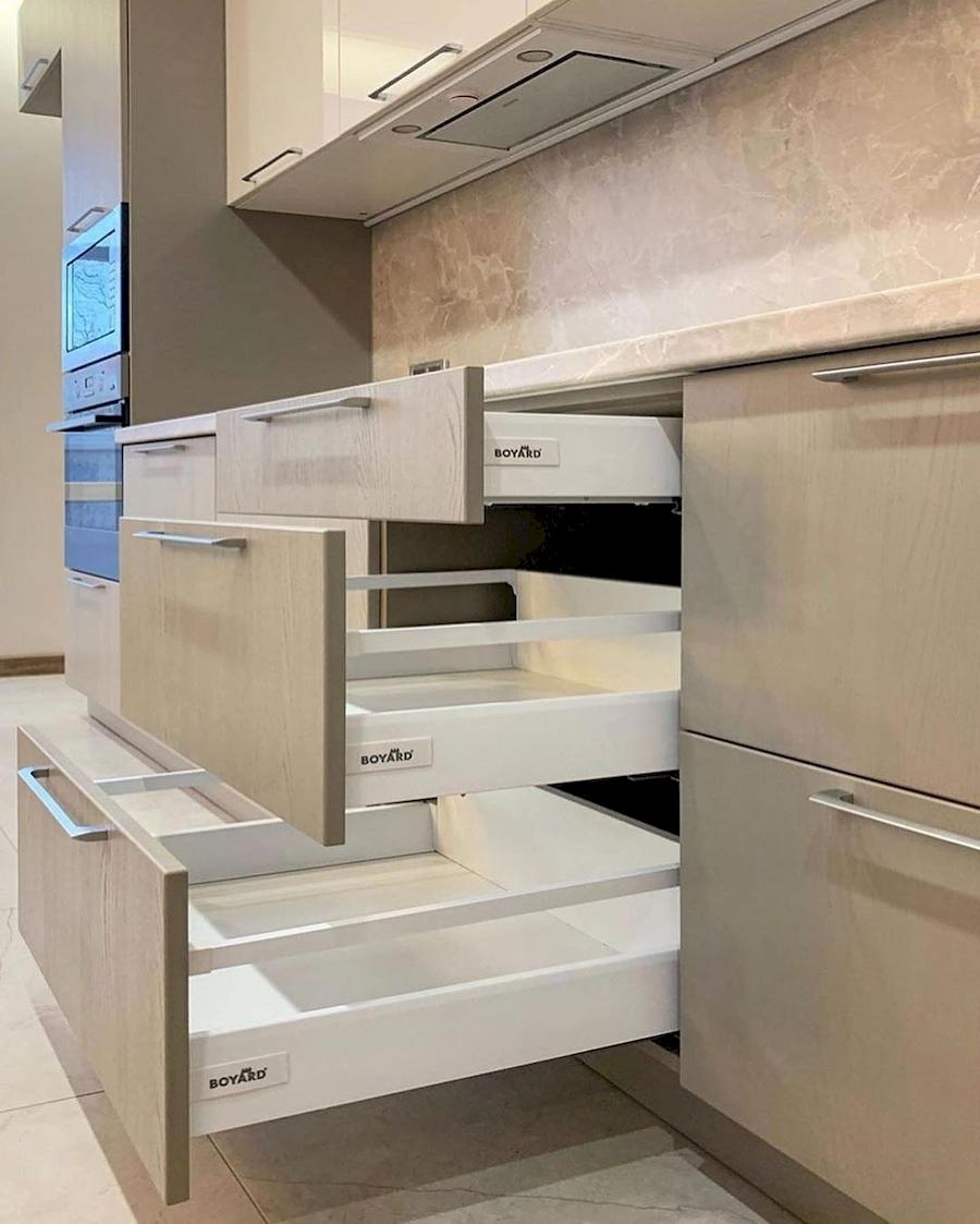 Бежевые кухни-Кухня МДФ в ПВХ «Модель 587»-фото4