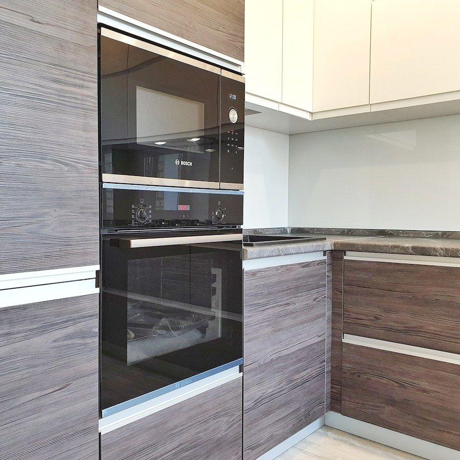 Белый кухонный гарнитур-Кухня из пластика «Модель 539»-фото2
