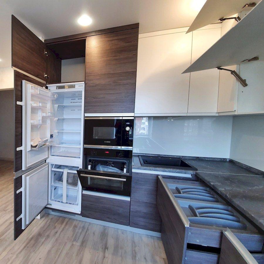 Белый кухонный гарнитур-Кухня из пластика «Модель 539»-фото5
