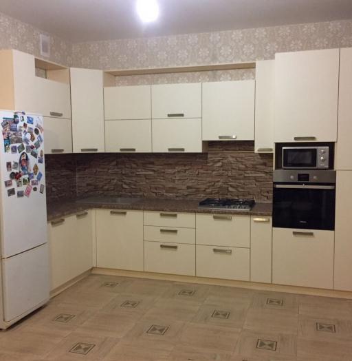 Белый кухонный гарнитур-Кухня МДФ в ПВХ «Модель 165»-фото8